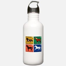 1969 Germany Horses Set Postage Stamps Water Bottle