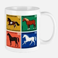 1969 Germany Horses Set Postage Stamps Mug