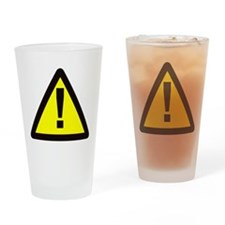 yellow warning sign with exclamation mark Drinking