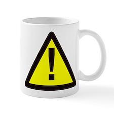 yellow warning sign with exclamation mark Mug