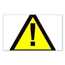 yellow warning sign with exclamation mark Decal