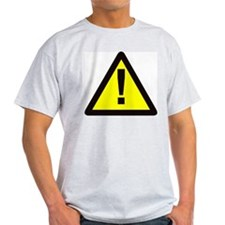 yellow warning sign with exclamation mark T-Shirt