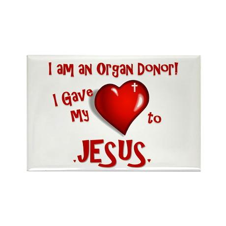 I am an Organ Donor Rectangle Magnet