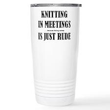 Funny Funny knitting Travel Mug