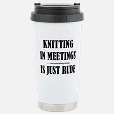 Unique Knitting crafts Travel Mug