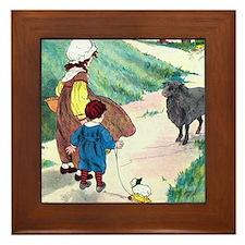 Baa Baa Black Sheep Framed Tile