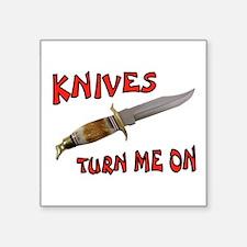 "KNIVES Square Sticker 3"" x 3"""
