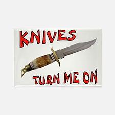 KNIVES Rectangle Magnet