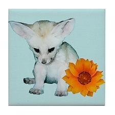 Fennec Fox Kit Tile Coaster