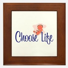 """Choose Life"" Framed Tile"