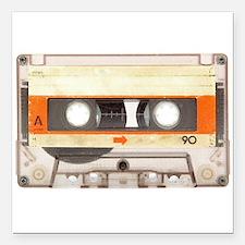 Retro Vintage Style Cassette Tape Square Car Magne
