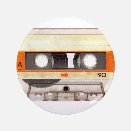 """Retro Vintage Style Cassette Tape 3.5"""" Button (100"""