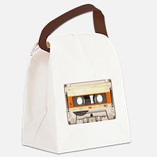 Retro Vintage Style Cassette Tape Canvas Lunch Bag