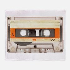 Retro Vintage Style Cassette Tape Throw Blanket