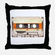 Retro Vintage Style Cassette Tape Throw Pillow