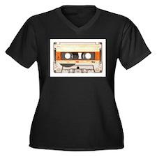 Retro Vintage Style Cassette Tape Women's Plus Siz