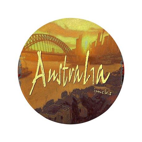 """australia art illustration 3.5"""" Button"""