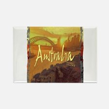 australia art illustration Rectangle Magnet