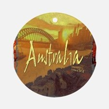 australia art illustration Ornament (Round)