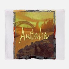 australia art illustration Throw Blanket