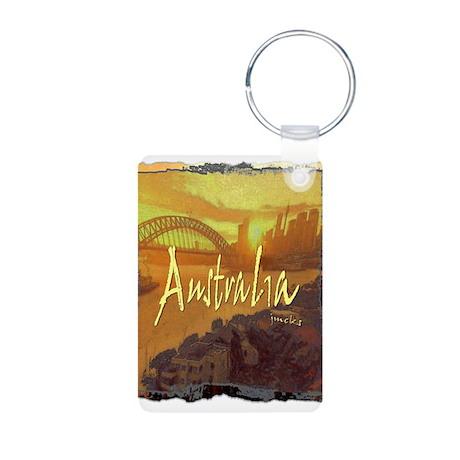australia art illustration Aluminum Photo Keychain