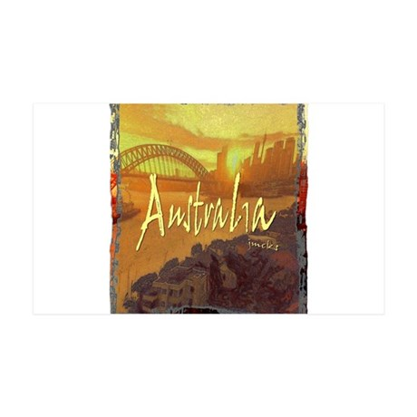 australia art illustration 35x21 Wall Decal