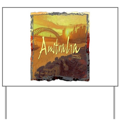 australia art illustration Yard Sign