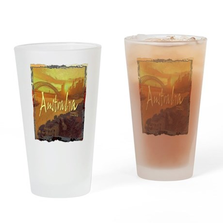 australia art illustration Drinking Glass