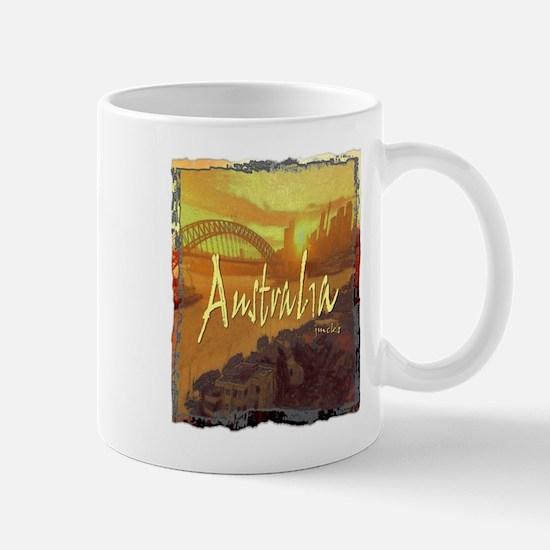 australia art illustration Mug