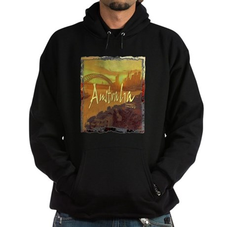 australia art illustration Hoodie (dark)