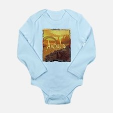 australia art illustration Long Sleeve Infant Body