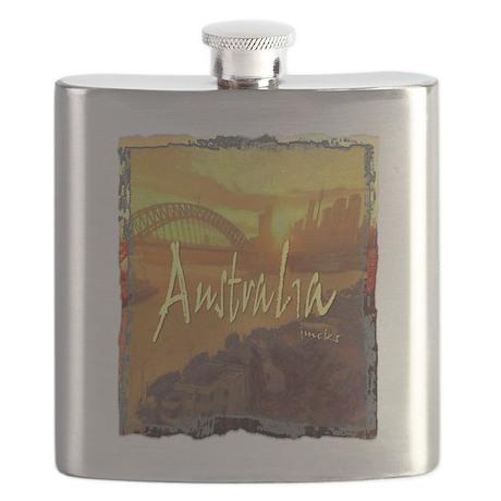 australia art illustration Flask