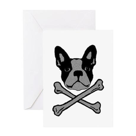 Jolly Lola - simple grey Greeting Cards