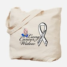 Lung Cancer Widow Tote Bag