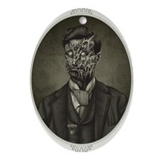 Vintage Zombie Gentleman Ornament (Oval)