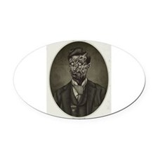 Vintage Zombie Gentleman Oval Car Magnet