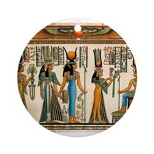Ancient Egyptian Wall Tapestry Ornament (Round)