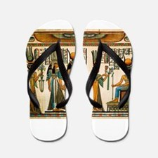 Ancient Egyptian Wall Tapestry Flip Flops