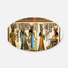 Ancient Egyptian Wall Tapestry Oval Car Magnet