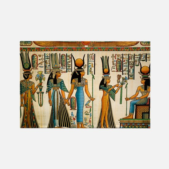 Ancient Egyptian Wall Tapestry Rectangle Magnet (1