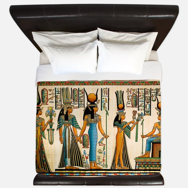 Ancient Egyptian Wall Tapestry King Duvet
