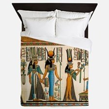 Ancient Egyptian Wall Tapestry Queen Duvet
