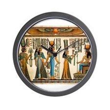 Ancient Egyptian Wall Tapestry Wall Clock