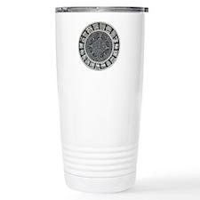 Aztec Mayan Sun Dial Travel Coffee Mug
