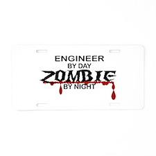 Engineer Zombie Aluminum License Plate