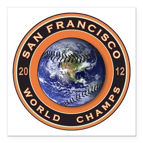 San Francisco 2012 World Champs Square Car Magnet