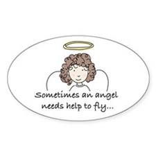Special Angel Oval Decal
