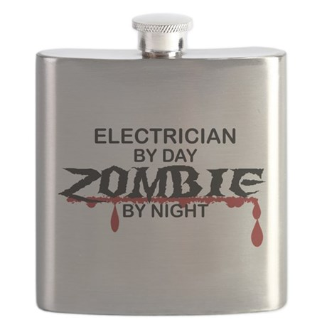 Electrician Zombie Flask