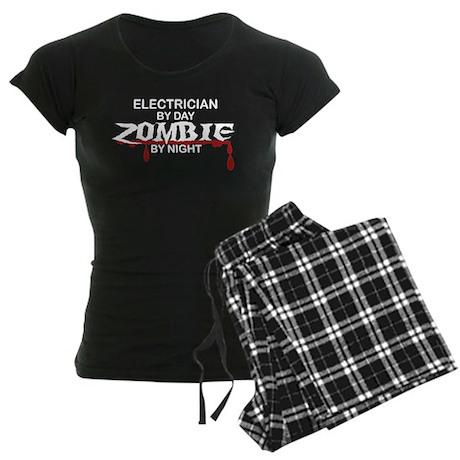 Electrician Zombie Women's Dark Pajamas