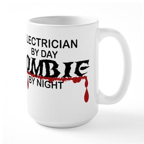 Electrician Zombie Large Mug